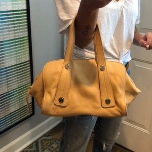 Chanel Lambskin Studded Tan Leather Satchel